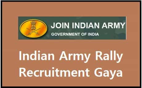 Indian Army Rally Recruitment Gaya