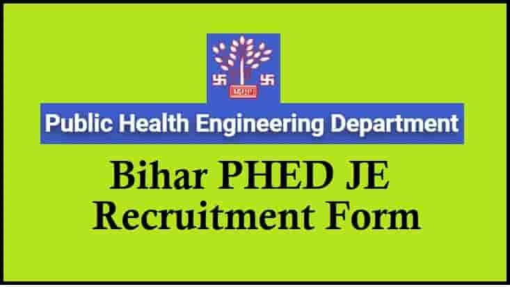 Bihar PHED Junior Engineer Recruitment