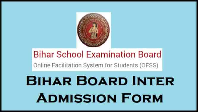 Bihar BSEB OFSS Inter Admission Online Form Apply