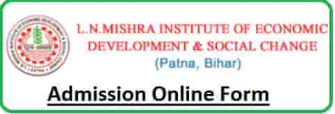 LN Mishra Institute Of Economic Development Admission Online Form