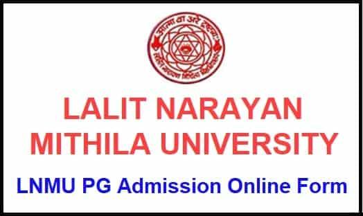 LNMU PG Admission Online Form