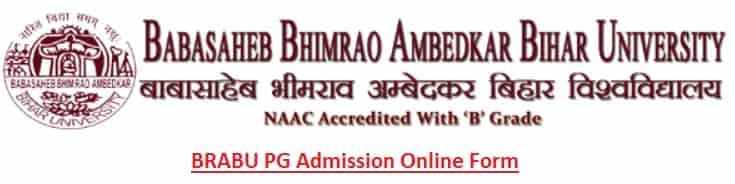 BRABU PG Admission Online Form