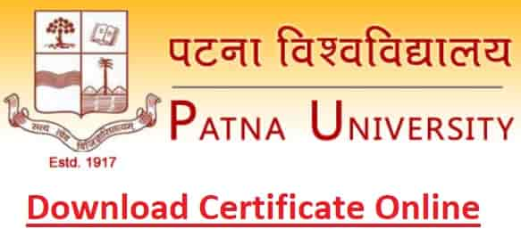Patna University Download Online Certificate