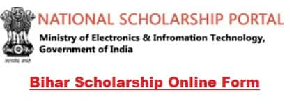 Bihar University College Central Sector Scheme Scholarship form