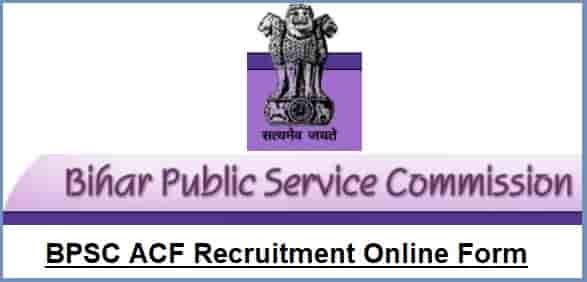 BPSC ACF Recruitment Online Form