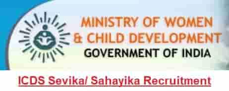 ICDS Bihar Anganwadi Sevika Sahayika Recruitment