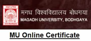 Magadh University Download Online Certificate