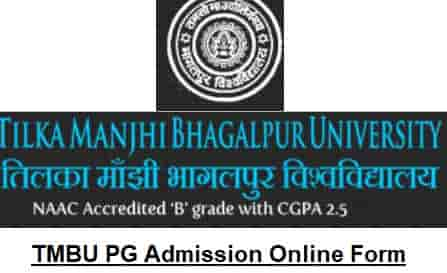 TMBU PG Master Course Admission Online Form