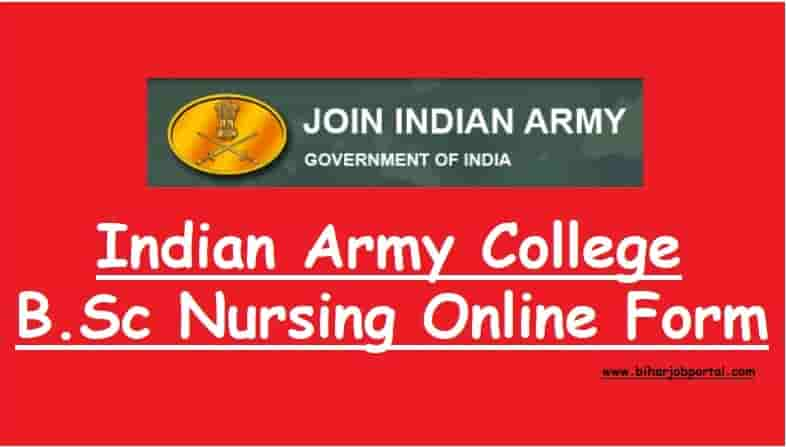 Indian Army College B.Sc Nursing Admission Online Form