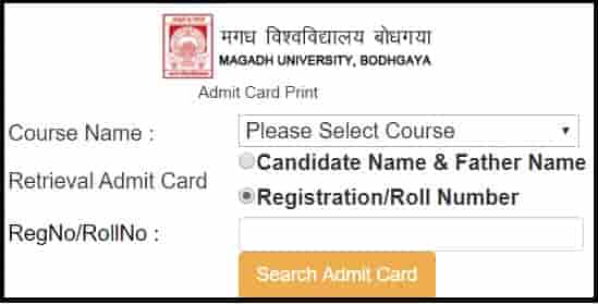 Magadh Univerity UG Part 2 Admit Card