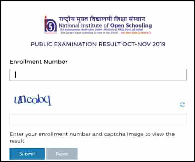 National Open School 10th 12th Result