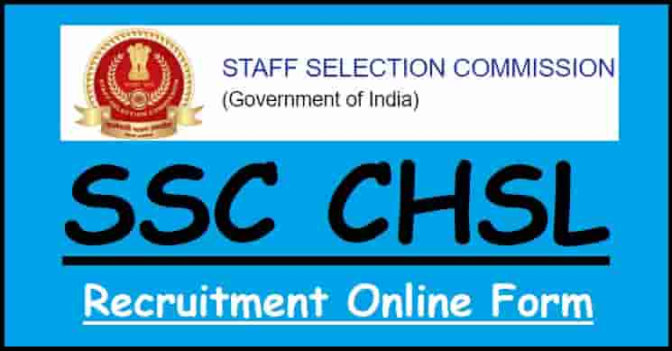 SSC CHSL Recruitment Online Form
