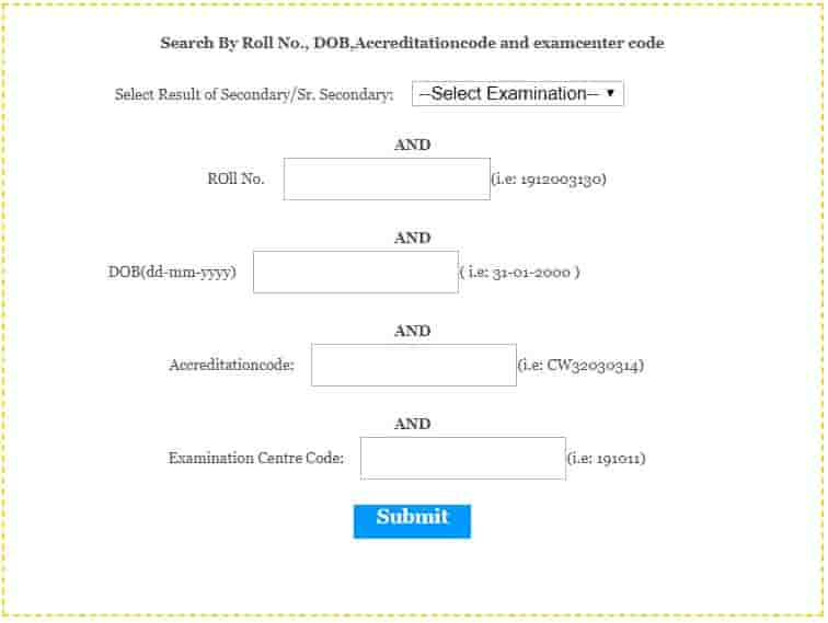 BBOSE Secondary Examination Resultq