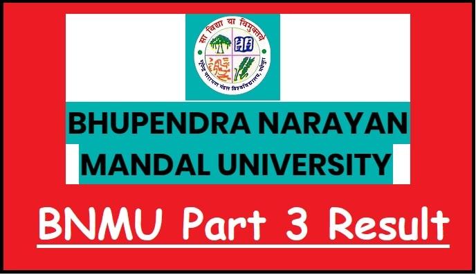 BNMU UG Part 3 Result