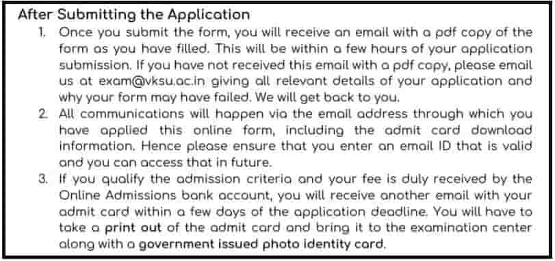 How to Apply for VKSU M.ed Admission Online Form 2020