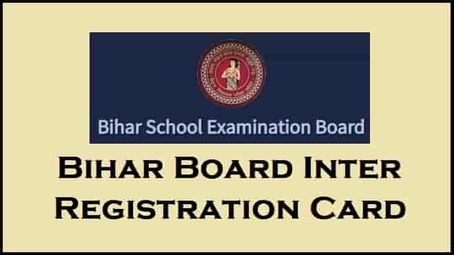 BSEB Bihar Board Inter Registration Card