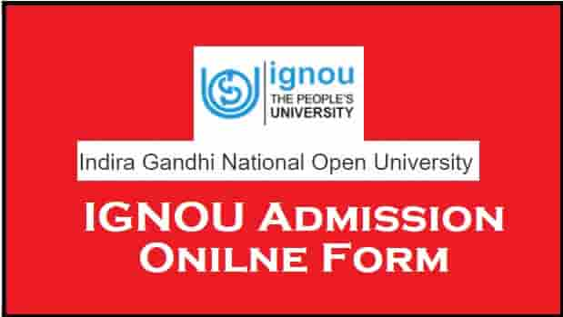 IGNOU Admission Online Form