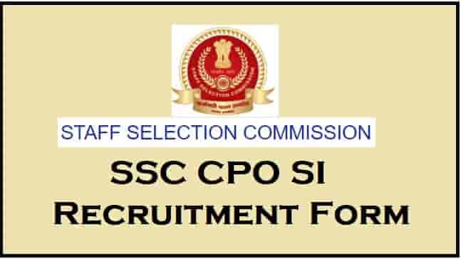 SSC CPO SI Recruitment