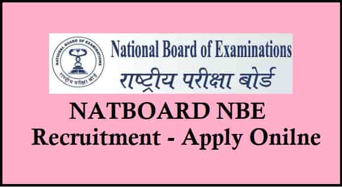 Natboard NBE Recruitment