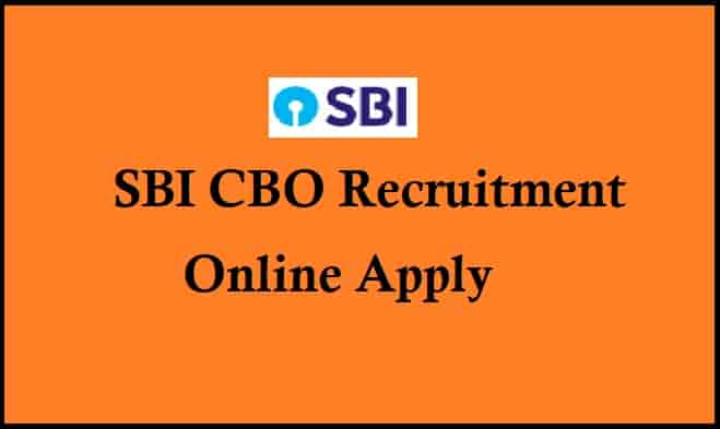 SBI CBO Recruitment