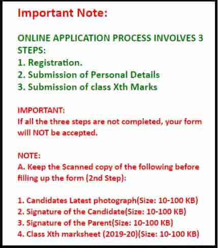 JNV 11th Class Admission Document Required